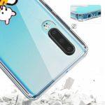 Oihxse Clair Case pour Huawei Honor V10 Lite/8X Coque Ultra Mince Transparent Souple TPU Gel Silicone Protecteur Housse Mignon Motif Dessin Anti-Choc Étui Bumper Cover (A1)