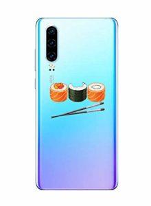 Oihxse Clair Case pour Huawei Mate 8 Coque Ultra Mince Transparent Souple TPU Gel Silicone Protecteur Housse Mignon Motif Dessin Anti-Choc Étui Bumper Cover (A13)