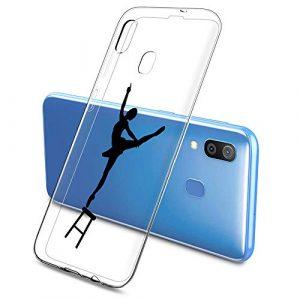 Oihxse Clair Case pour Samsung Galaxy A51/M40S Coque Ultra Mince Transparent Souple TPU Gel Silicone Protecteur Housse Mignon Motif Dessin Anti-Choc Étui Bumper Cover (A11)