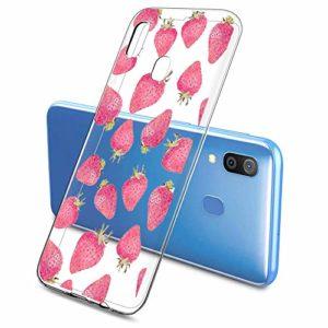 Oihxse Clair Case pour Samsung Galaxy A720/A7 2017 Coque Ultra Mince Transparent Souple TPU Gel Silicone Protecteur Housse Mignon Motif Dessin Anti-Choc Étui Bumper Cover (A10)
