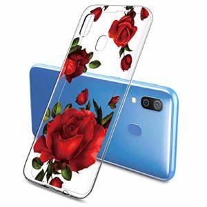 Oihxse Clair Case pour Samsung Galaxy J3 2018 Coque Ultra Mince Transparent Souple TPU Gel Silicone Protecteur Housse Mignon Motif Dessin Anti-Choc Étui Bumper Cover (A7)