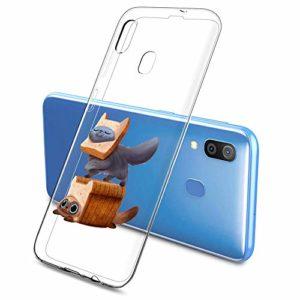 Oihxse Clair Case pour Samsung Galaxy J6 Plus 2018 Coque Ultra Mince Transparent Souple TPU Gel Silicone Protecteur Housse Mignon Motif Dessin Anti-Choc Étui Bumper Cover (A2)