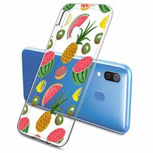 Oihxse Clair Case pour Samsung Galaxy S10E/S10 Lite Coque Ultra Mince Transparent Souple TPU Gel Silicone Protecteur Housse Mignon Motif Dessin Anti-Choc Étui Bumper Cover (A4)