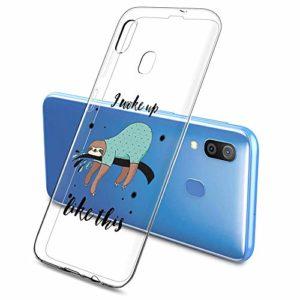 Oihxse Clair Case pour Samsung Galaxy S7 Edge Coque Ultra Mince Transparent Souple TPU Gel Silicone Protecteur Housse Mignon Motif Dessin Anti-Choc Étui Bumper Cover (A16)
