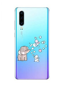 Oihxse Compatible pour Huawei Honor 7A/Y6 2018 Coque [Mignon Transparente Éléphant Lapin Motif Séries] Housse TPU Souple Protection Étui Ultra Mince Anti Choc Animal Case (A7)