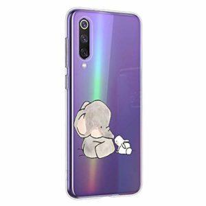 Oihxse Compatible pour Huawei Mate 30 Coque [Mignon Transparente Éléphant Lapin Motif Séries] Housse TPU Souple Protection Étui Ultra Mince Anti Choc Animal Case (A12)