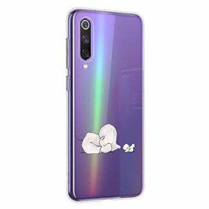 Oihxse Compatible pour Samsung Galaxy A6S Coque [Mignon Transparente Éléphant Lapin Motif Séries] Housse TPU Souple Protection Étui Ultra Mince Anti Choc Animal Case (A9)