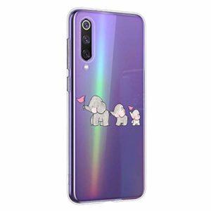 Oihxse Compatible pour Samsung Galaxy Note 8 Coque [Mignon Transparente Éléphant Lapin Motif Séries] Housse TPU Souple Protection Étui Ultra Mince Anti Choc Animal Case (A6)