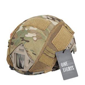 OneTigris Housse/Couvre-casque Camouflage Pour Casque FAST MH/PJ (Camouflage)