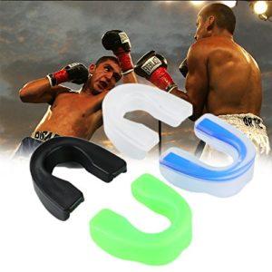 oobest Sports de Plein air Oral Dentaire Protection de Boxe Sports MMA Football Basketball karaté Muay Thai Dentaire Outils de sécurité, Noir/Blanc, Petit