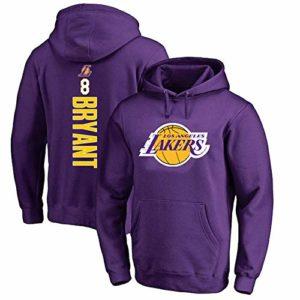 OUTWEAR # 24 Kobe Bryant Basketball Fan Pull Capuchons pour Hommes Sweat à Capuche Longue Printemps Casual Pull Jumper T-Shirt Manches Tops avec Poche – Cadeaux Ados Purple-M
