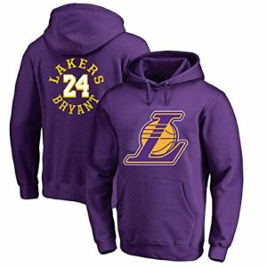 OUTWEAR Basketball Fan Kobe # 24 Hoodies Pull à Capuche Printemps Pull Sauteur en Longueur Casual Hauts à Manches T-Shirt avec Poche – Cadeau Teen Purple-XS