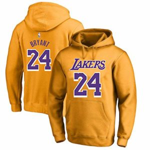 OUTWEAR Basket-Ball Fan Sweats à Capuche Pull avec Capuche Kobe Bryant # 24 Los Angeles Lakers Sweat-Shirt Pull Spring Casual Jumper T-Shirt Tops avec Poche – Cadeaux Ados Yellow A-M