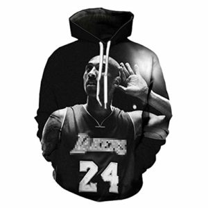 OUTWEAR Sweats à Capuche Pull Homme Kobe Bryant 3D Imprimé Sweat à Capuche Pull Pull à Manches Longues Hauts T-Shirt avec Poche – Cadeaux Teen D-XXL