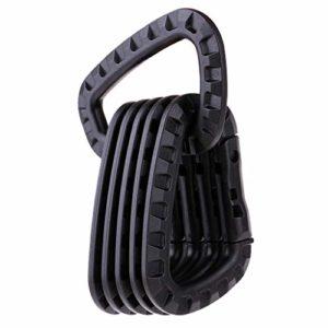 P Prettyia 6pcs Mousqueton Boucle pour Sac à Dos Multifonction Camping Accessoire Bouteille – Noir, 8.5×5.6CM