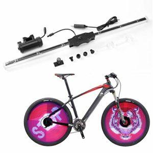 Phare 64 LED pour Roue de vélo, étanche IPX6, Rechargeable, à Monter soi-même, programmable, pour vélo, Plein écran, 1 Pack