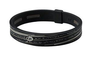 Phiten Slashline Titanium Bracelet, Noir/Gris, 17cm (17cm)