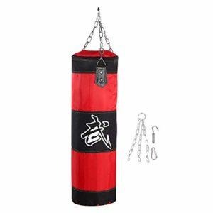 Punch Sandbag, Sac de Frappe Fonctionnel pour Sac de Boxe Durable pour Boxe Durable, pour Exercice, Fitness Et Sport (80cm-Rouge)