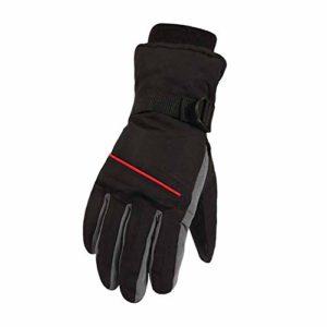 Qlans Hiver Gants de Ski imperméables, Gants Chauds en Coton Moto Neige Gants Coupe-Vent Thermique