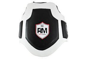 Ringmaster UK Focus Pads Gants en cuir synthétique Blanc/Bleu