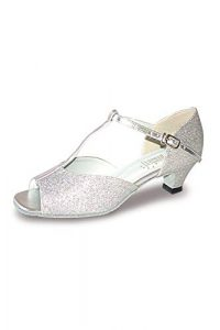 Roch Valley Aduo Chaussures de Danse de Salon Argent Brillant 7L (41)