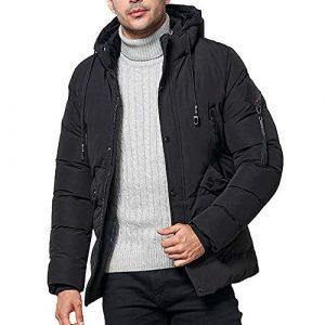 Roiper Hommes Automne Hiver Casual Zipper Sweatershirt Pure Color Hoodie Plus Size Coat Sweat à Capuche Homme à Manches Longues Sweat à Capuche Casual Top Outwear Parka Chaud Trenchcoat