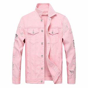 Roiper Hommes Hiver Manches Longues Blouson Nouvelle Veste en Jean Masculine Jacket Trucker Denim Épais Chaud Casual Outwear