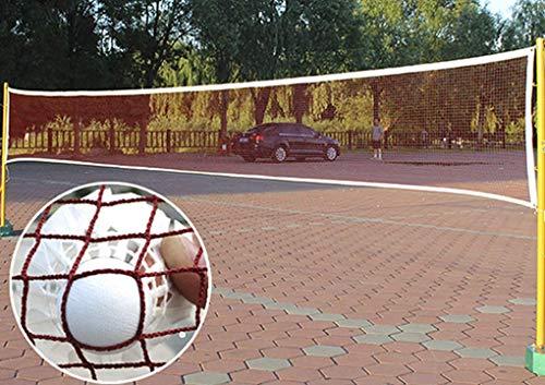 RUIXIA Filet de Badminton Portable Filet de Volley-Ball Tennis Pliable Facile à Monter Filet de Badminton Rouge (610 x 76 CM) pour Sports Intérieurs ou Extérieurs