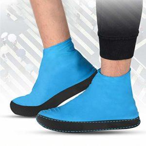 SADA72 1 Paire de Chaussures Anti-Pluie – Émulsions – Réutilisables – Semelle épaisse élastique imperméable pour la Boue, la Neige, l'escalade, l'équitation, etc.