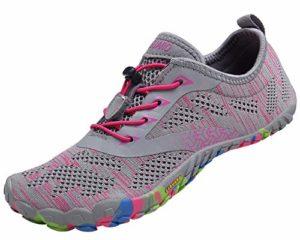 SAGUARO Chaussures de Trail Running Homme Femme Chaussures Minimalistes Chaussures de Sport Outdoor & Indoor Gym Fitness Randonnée Escalade Marche Barefoot Shoes Chaussures Aquatiques, Rose, 37 EU