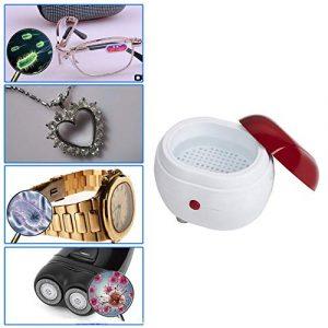 sahnah Portable Mini Ultrasonic Washing Machine Jewelry Lenses Dentures Cleaner Box