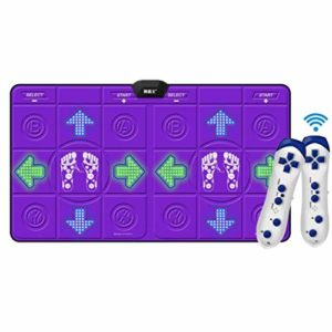 Sans fil tapis de danse Sans fil tapis de danse, les enfants cadeau tapis de danse non-dérapante jeu Dance Revolution Tv Hd Ordinateur double usage Fitness tapis de jeu-g 166x93cm (65x37inch) TIAOWUTA