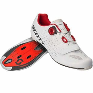 SCOTT 270593, Chaussures Road Vertec Boa White/Red 44.0 Unisexe Adulte