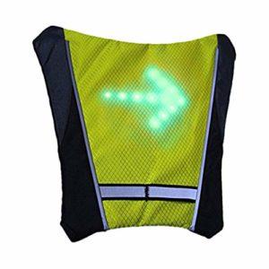 SDYDAY Débardeur réfléchissant à LED Clignotant étanche 5 Modes pour la sécurité du vélo, la Course à Pied, la Marche (Jaune)