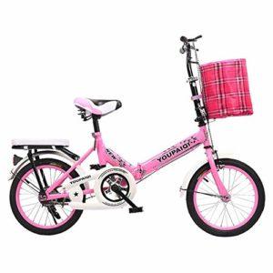 SDZXC Student vélos pliants, vélos Pliables pour Enfants Vélos Pliables Enfants Etudiants âgés de ≥8 Enfants-Bleu B 20 Pouces