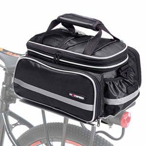 Selighting Sacoche Porte-Bagages de Vélo Étanche Sac de Vélo Imperméable Sac de Rangement arrière pour Cyclisme VTT Sport Voyage avec Housse (Noir)