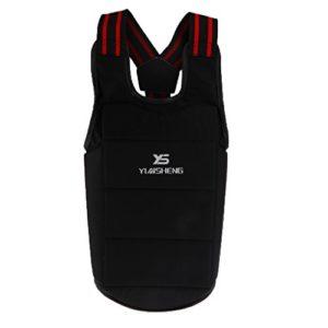 Sharplace Plastron Karaté Protection de Poitrine pour Boxe Sport de Compétition Durable Confortable – L