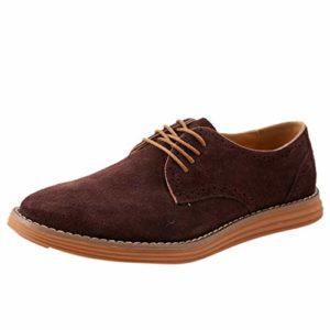 S&H-NEEDRA Chaussure Homme Cuir Mode Décontractée Solide Lacer Oxfords Cuir MâLe Chaussures Affaires