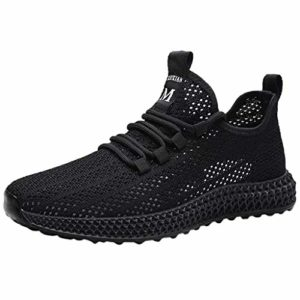 S&H-NEEDRA Hommes Basket Mode Chaussures de Sports Course Sneakers Fitness Outdoor Run Shoes Running Respirantes Athlétique Multicolore Respirante Noir Blanc Rouge La Poudre Bleu