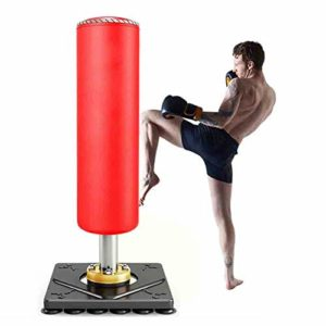 Shopps Sac de Boxe autoportant, Sac de Boxe Lourd Stable et Stable, Sac de Boxe Kickboxing sur Pied, avec Boule de poinçon de Base à Ventouse, Convient à la Musculation, Fitness