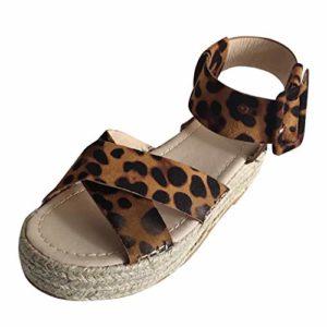 showsing-shoes , Sandales pour Femme – Beige – Brown -1, 38 EU