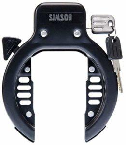 SIMSON Serrure à Anneau Universel 57 mm Noir