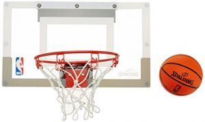 SPALDING – Mini Panier Basket NBA – Mini Ballons inclus – Maison ou Bureau – SLAM JAM BOARD TEAMS (56-100CN)