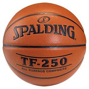 SPALDING – TF250 IN/OUT SZ.7 (74-531Z) – Ballons de basket NBA – Touché et Contrôle améliorés – Matière Durable – orange