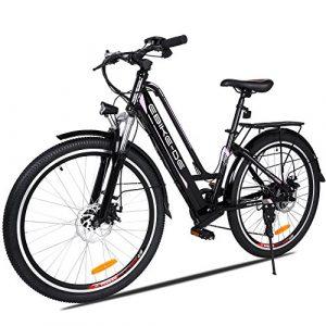 Speedrid Vélo Electrique, 2019 26 Plus/26/20 pneus VTT Electrique Homme sans Balai de 250 W et Batterie au Lithium 36V 8Ah/ 12Ah Shimano 21/7 Vitesses