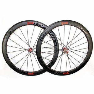 Sunbobo Vélos Roues Roues de Carbone de vélo de Route sergé 3K Twill Pneus moyeux scellés