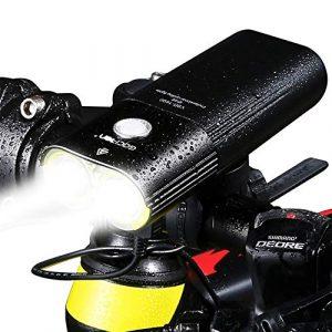 SWEET Kit Éclairage Vélo Usb1600 Lumens LED Lampe Vélo IPX65 Étanche en Alliage D'aluminium 4500 MAh Batterie Rotation À 360 ° Convient pour Les Familles De Nuit