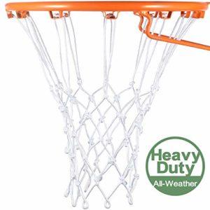 Syhood Filet de Basketball Blanc de Remplacement pour Tous Les Temps, Convient pour Les créoles Standard d'intérieur ou d'extérieur, 12 Boucles