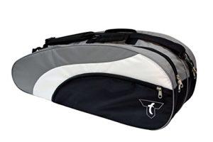 Talbot Torro 449216 Sac pour Raquettes Mixte Adulte, Noir/Argent/Blanc, 78 x 21 x 29 cm
