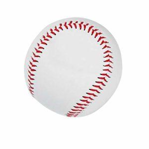TAOHOU Universal 9# Type Dur balles de Baseball intérieures en Caoutchouc supérieur de PVC de Sports d'enfants Blanc et Rouge